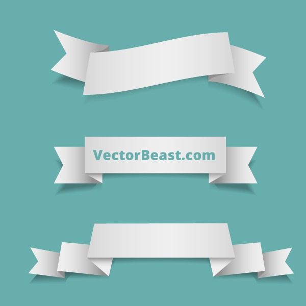 19 Vector Ribbon Images
