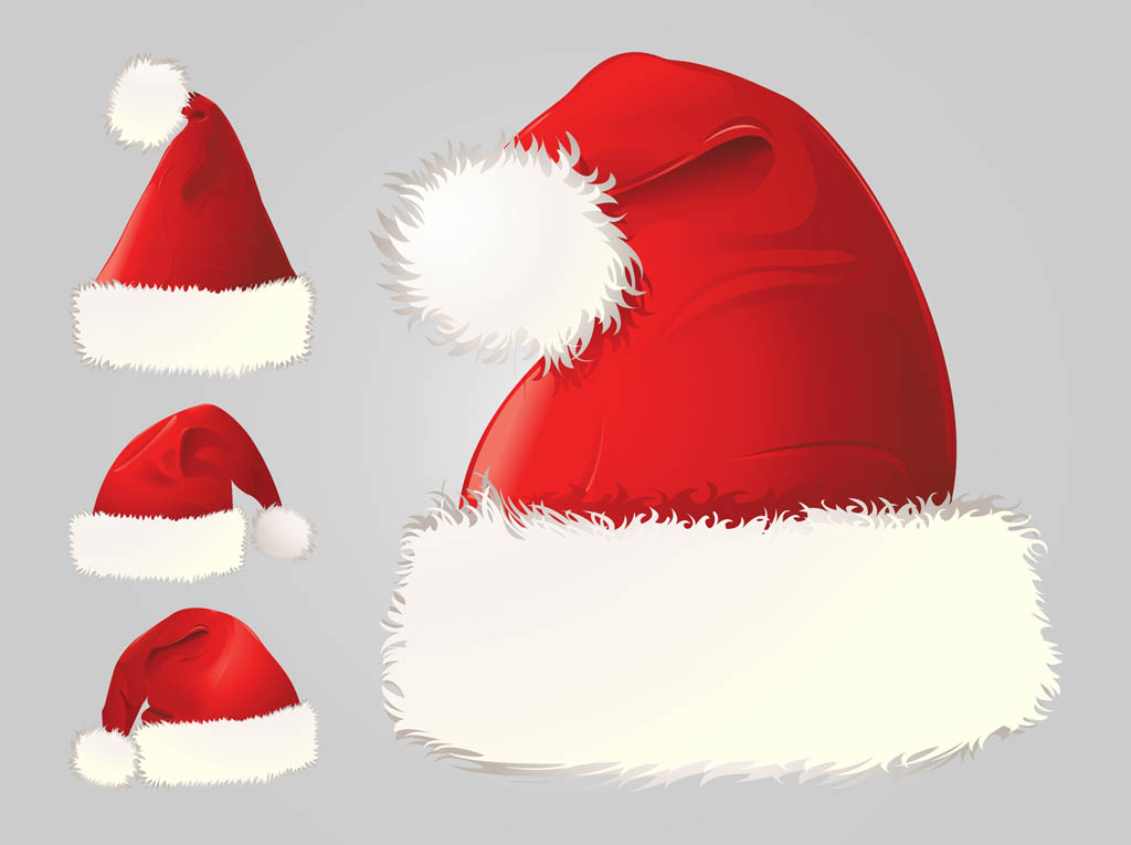 Santa hat vector free images christmas hats