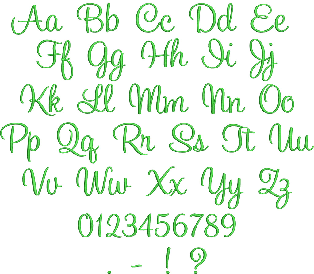 17 Embroidery Font Designs Images