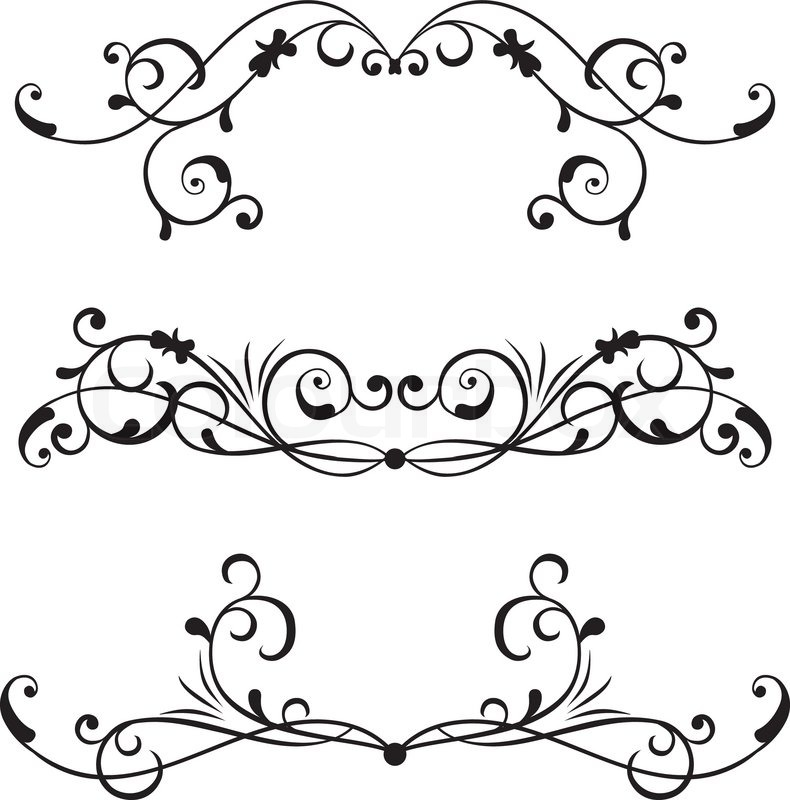 Scroll Border Vector Art