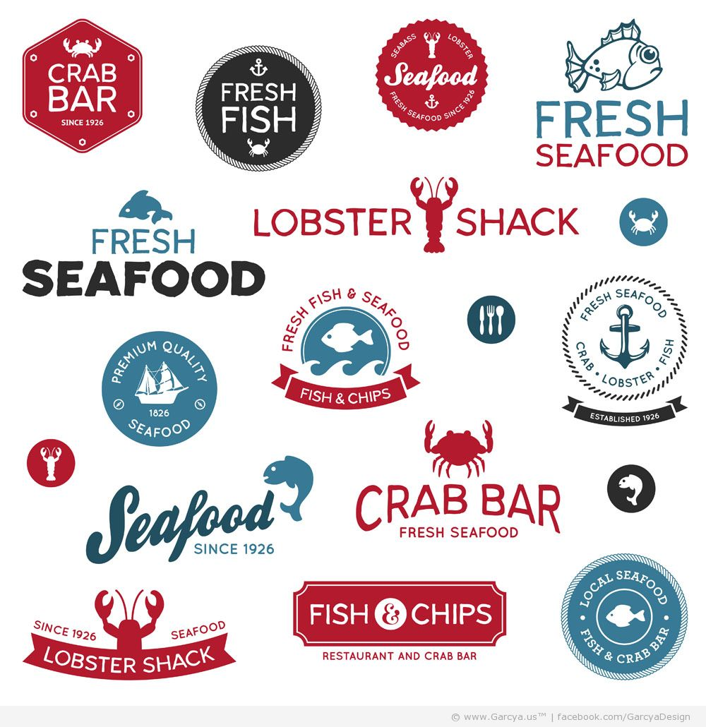Seafood Restaurant Logos Stars