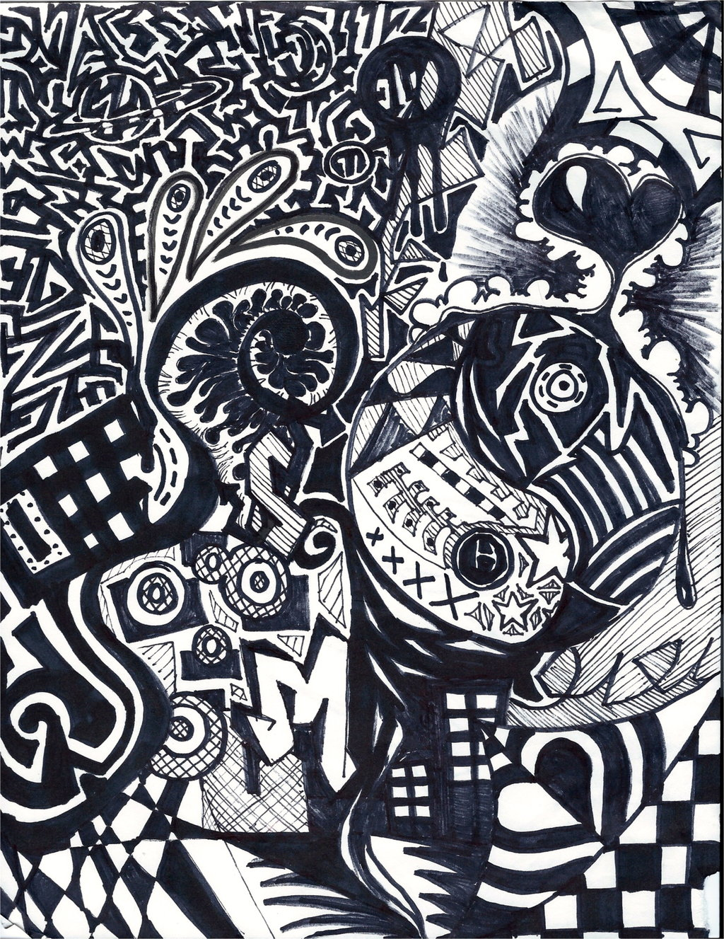 14 Sharpie Abstract Designs Images Abstract Sharpie Art Drawing Abstract Sharpie Art Drawing