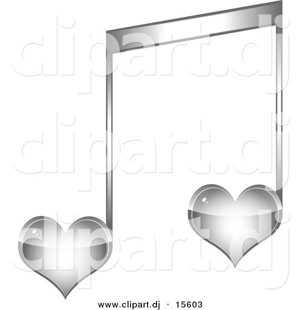 12 Silver Music Notes Vector Art Images