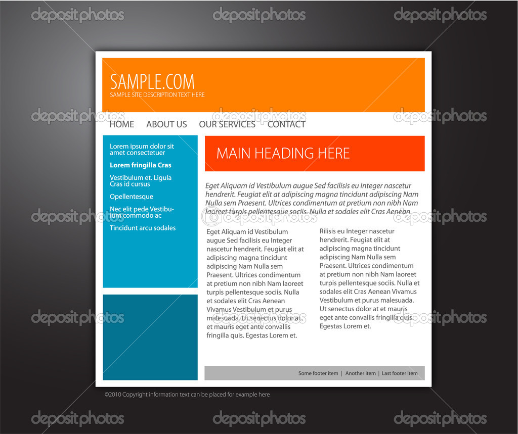6 simple website design templates images simple html for Basic html page template