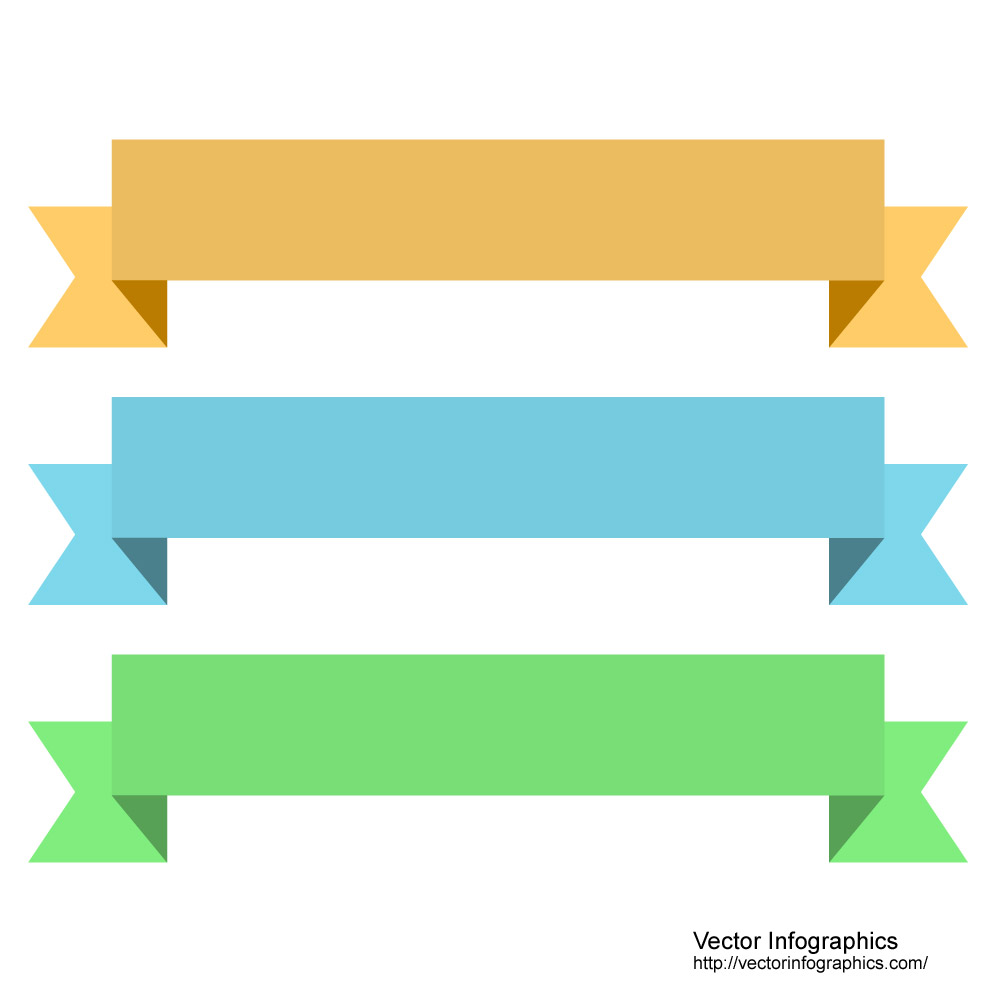 Simple Ribbon Banner Vector