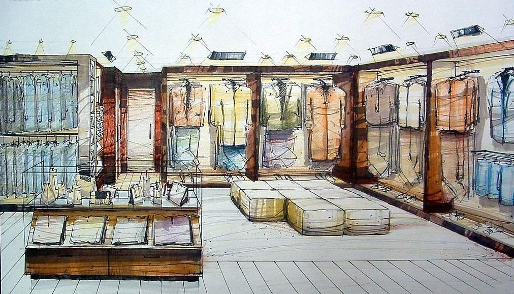 Retail Design Interior Sketch