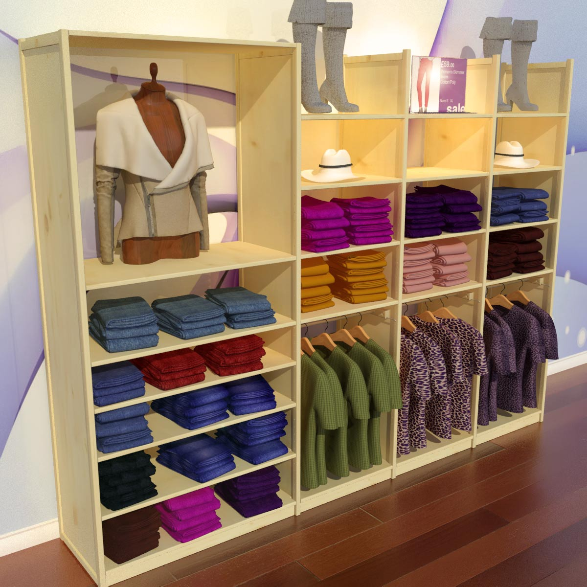 16 3D Garment Shop Design Images - Retail Store 3D Design Software ...