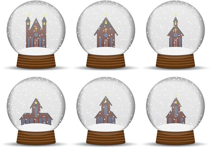 Snow Globe Vector Art