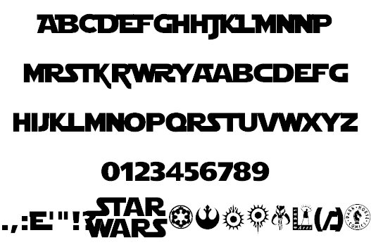 19 Free aurebesh fonts - FontSpace