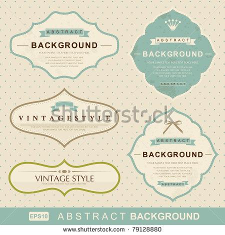 Stock Vector Vintage Labels