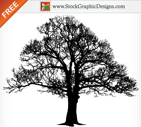 11 Tree Silhouette Vector Images