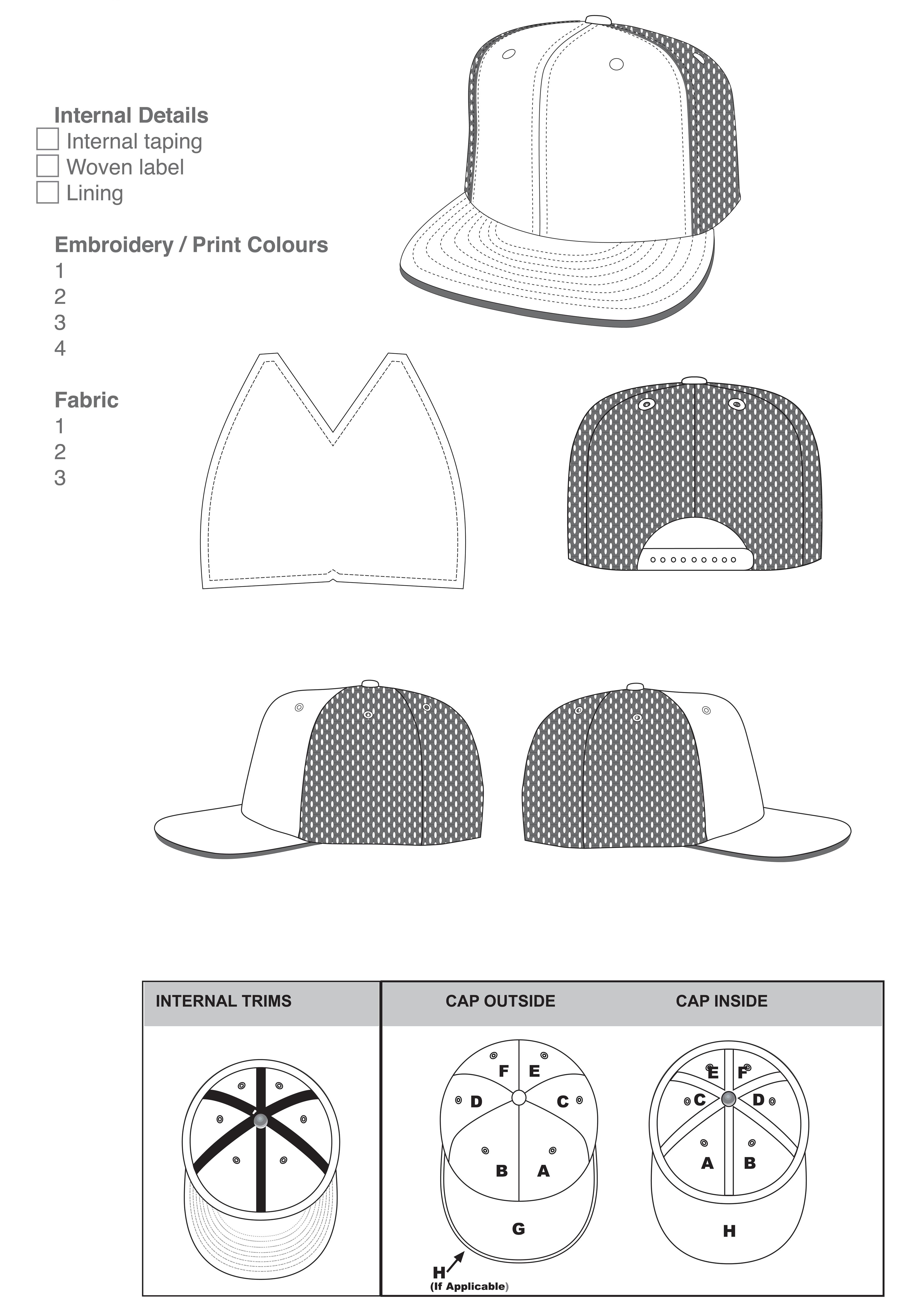 hat design template