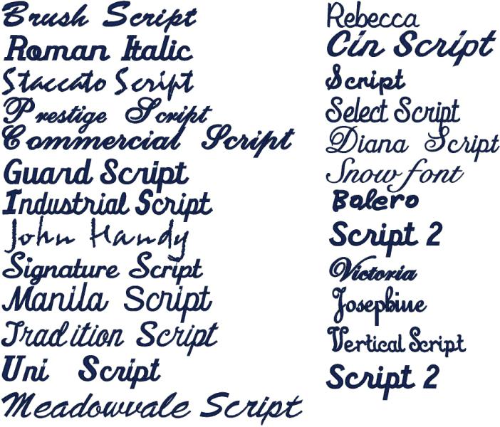 6 Types Of Script Fonts Images Fancy Cursive Tattoo