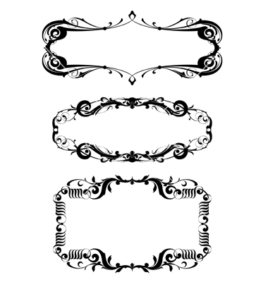 Vector Art Victorian Borders and Frames