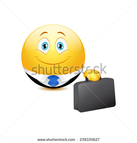 Vector Business Emoticon