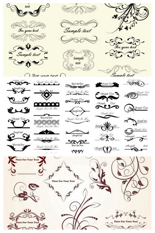 11 Free Decorative Elements Vectors Images