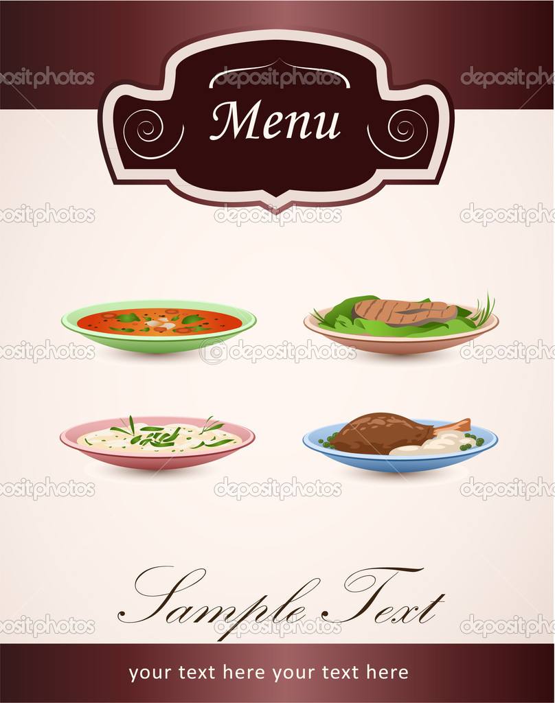 Vector Menu Restaurant