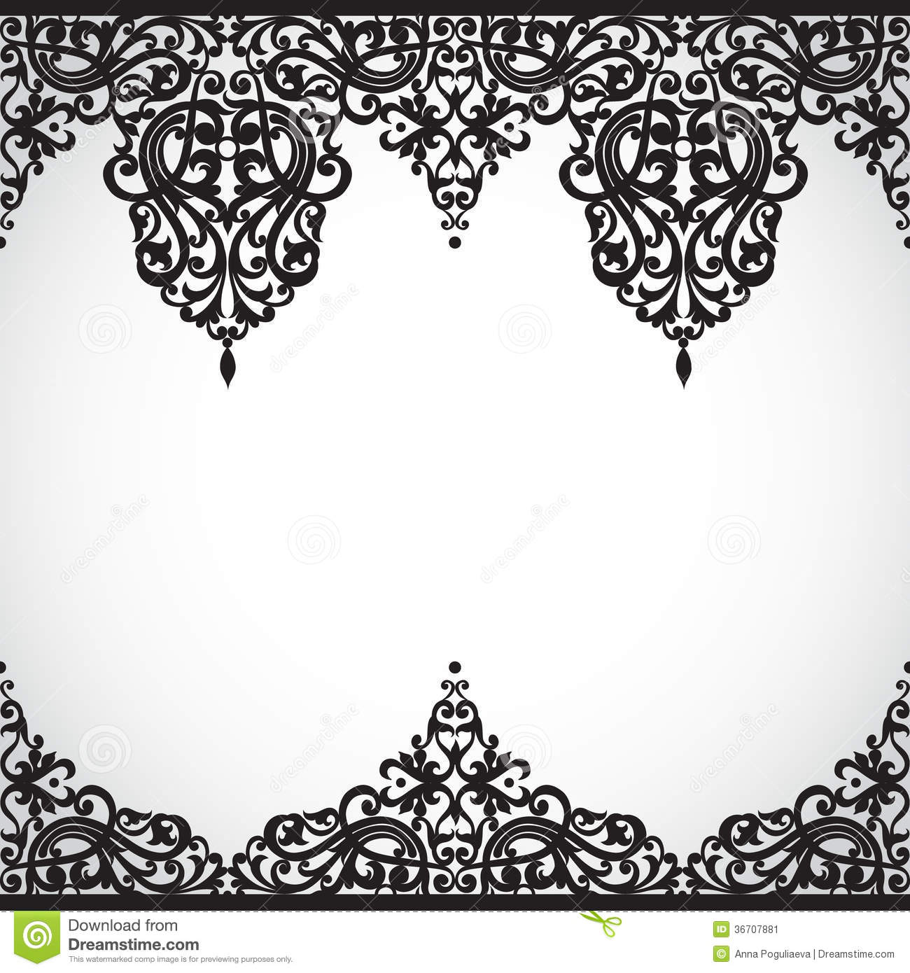 18 Victorian Border Vector Images - Victorian Page Border ...
