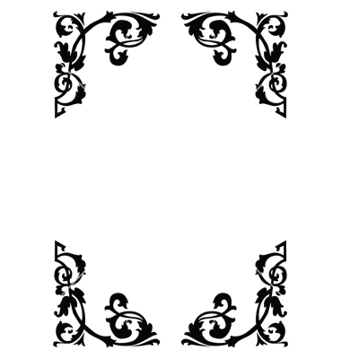 18 Victorian Border Vector Images