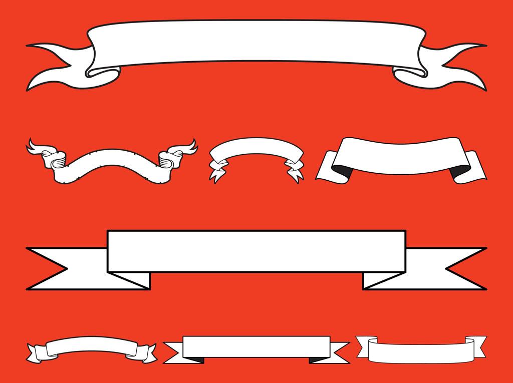 Vintage Ribbon Banner Clip Art Free