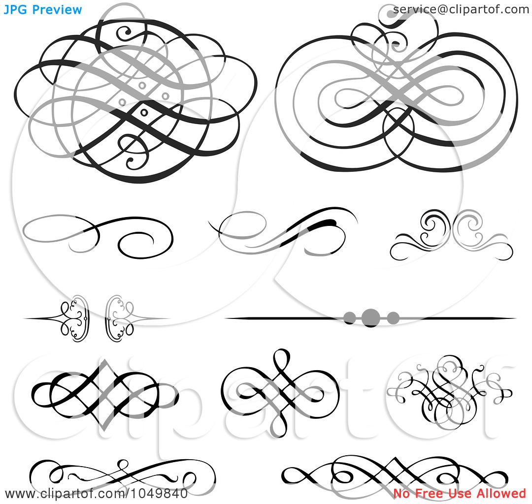 12 Swirl Designs Clip Art Grunge Images - Swirl Designs Clip