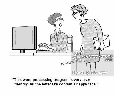 Word Processing Cartoons
