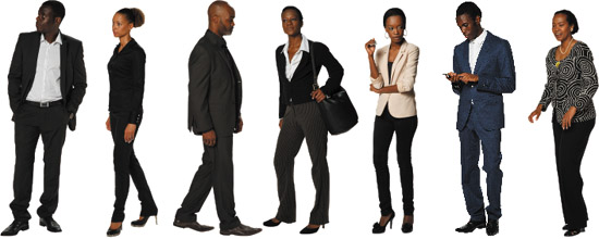 African American Business Person Photoshop