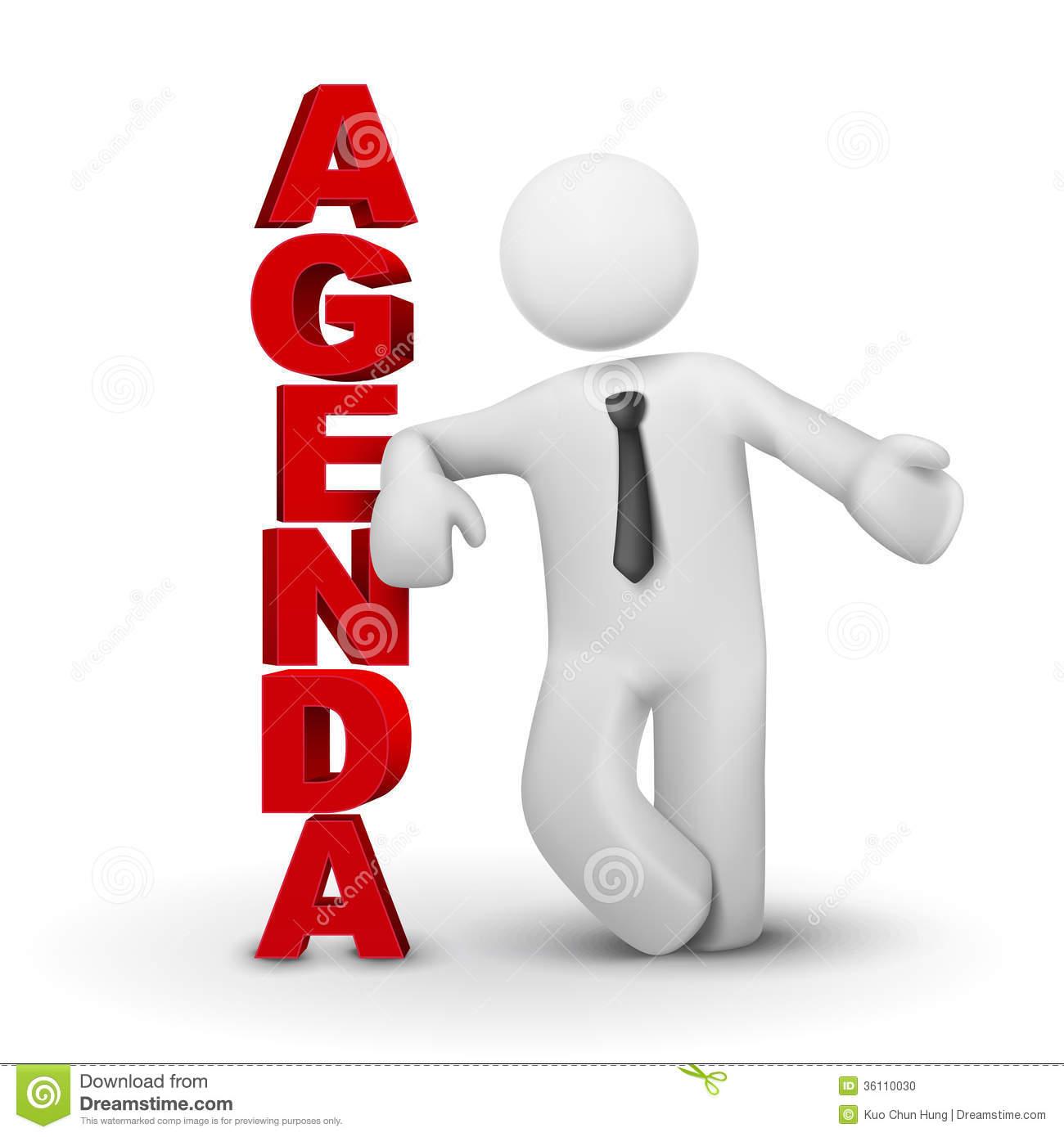 Agenda 3D Man Business