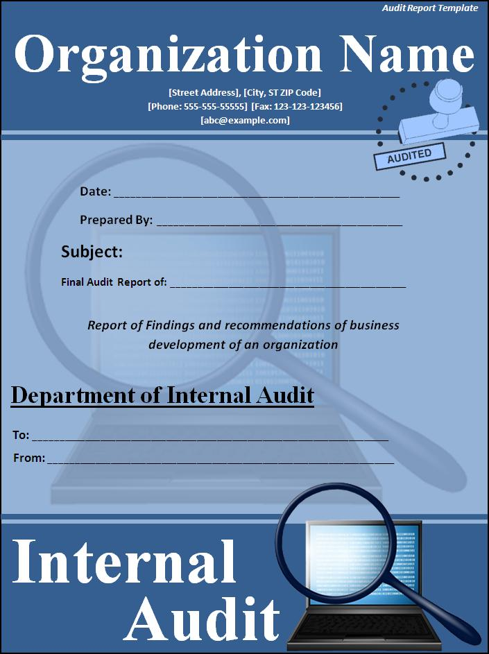 Report Cover Page Template  KakTakTk