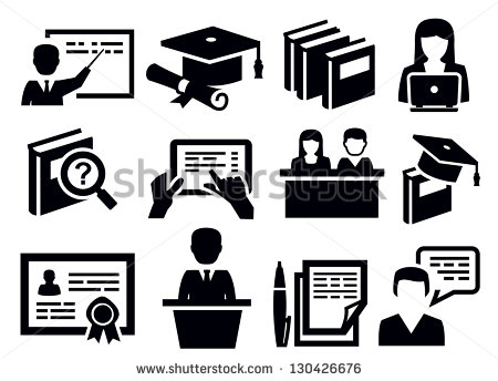 12 Learning Icons Black And White Images