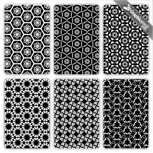 12 Black And White Vector Patterns Images