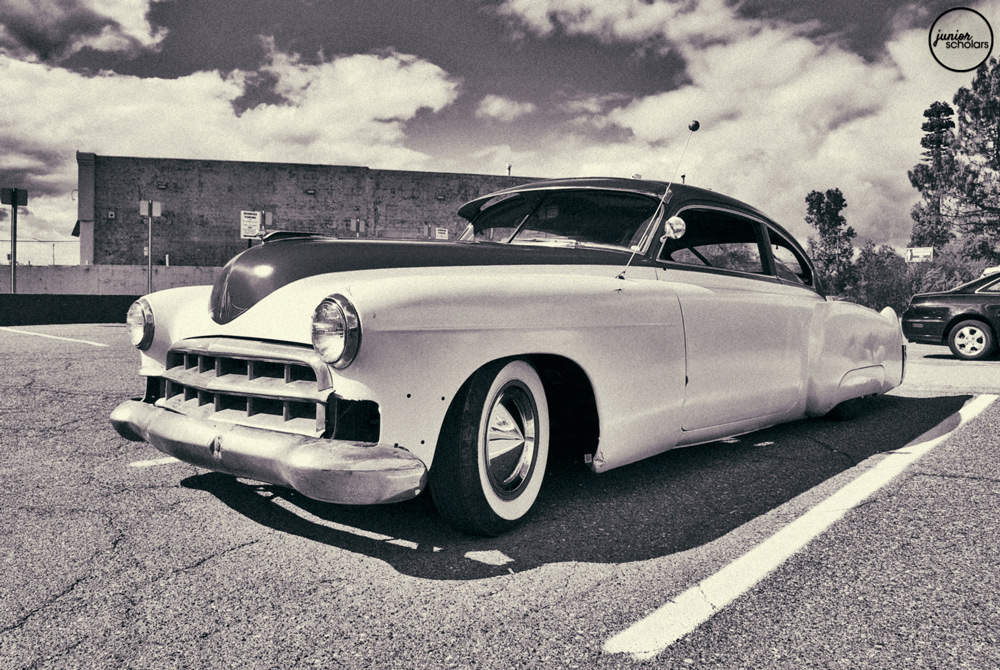 Black and White Old Classic Cars