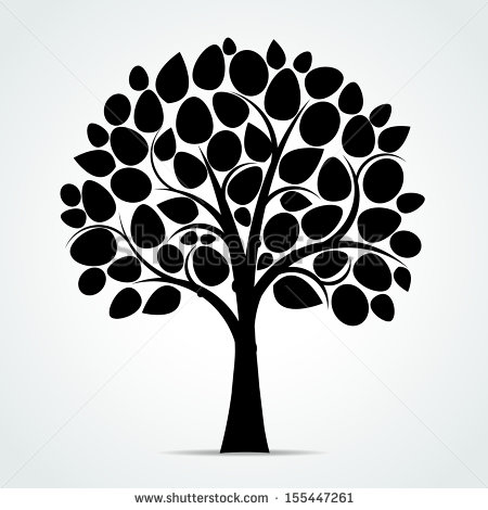 18 Black Vector Tree Images