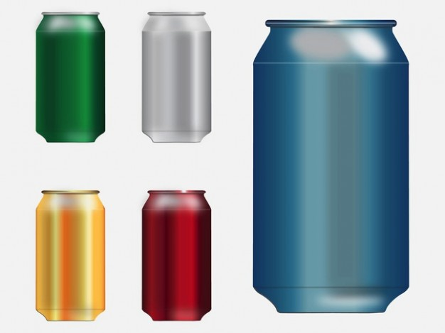 Blank Soda Can Template