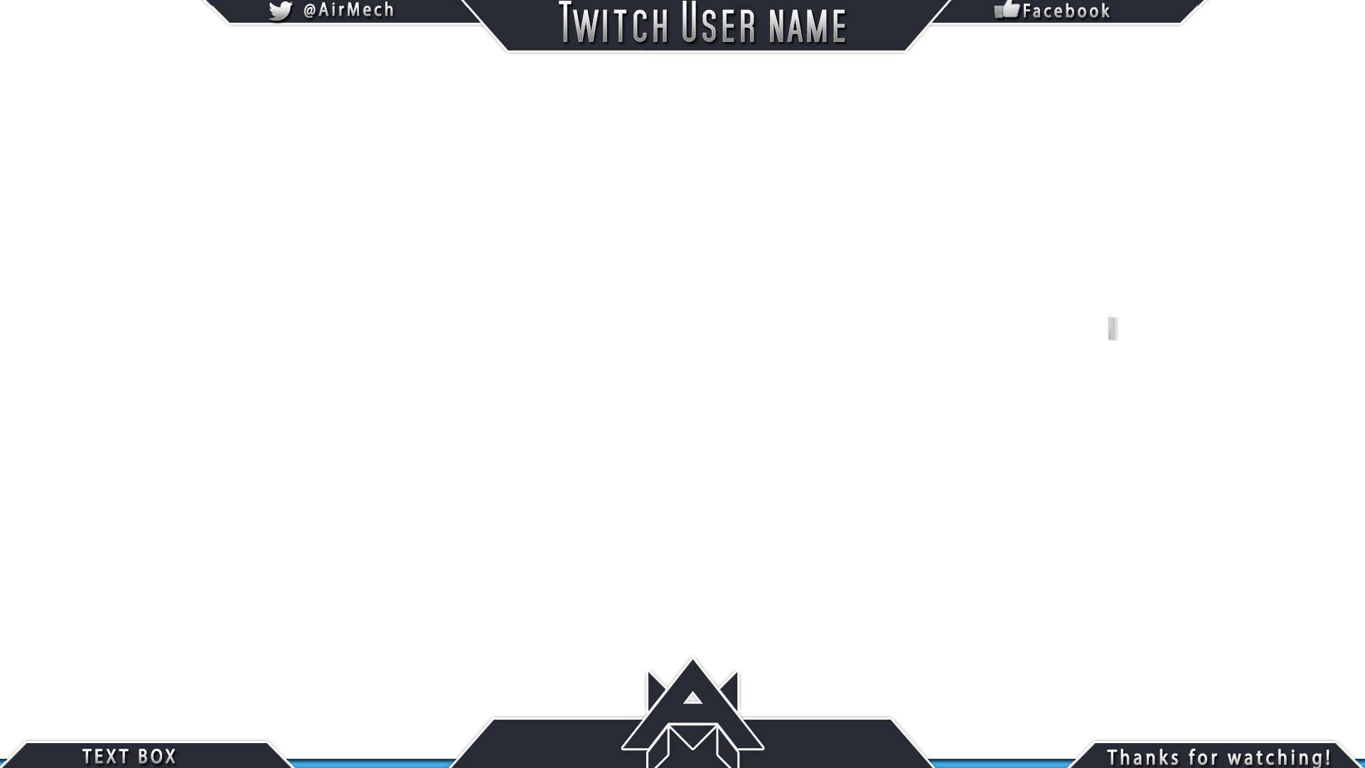 15 twitch banner psd images twitch overlay template for Free twitch overlay template