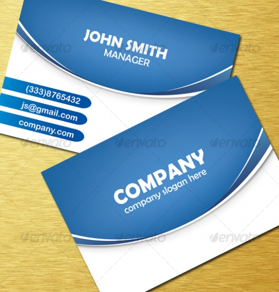 Blue Vector Business Cards