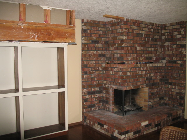 Corner brick fireplace corner brick fireplace makeover Corner fireplace makeover ideas