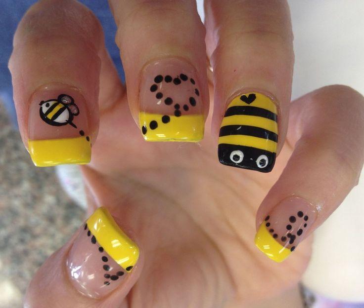 Bumble Bee Nail Design
