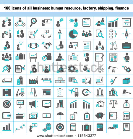 12 Human Resources Icon Set Images