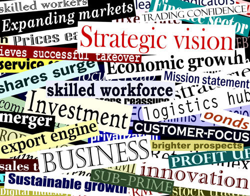 Business News Headlines Collage