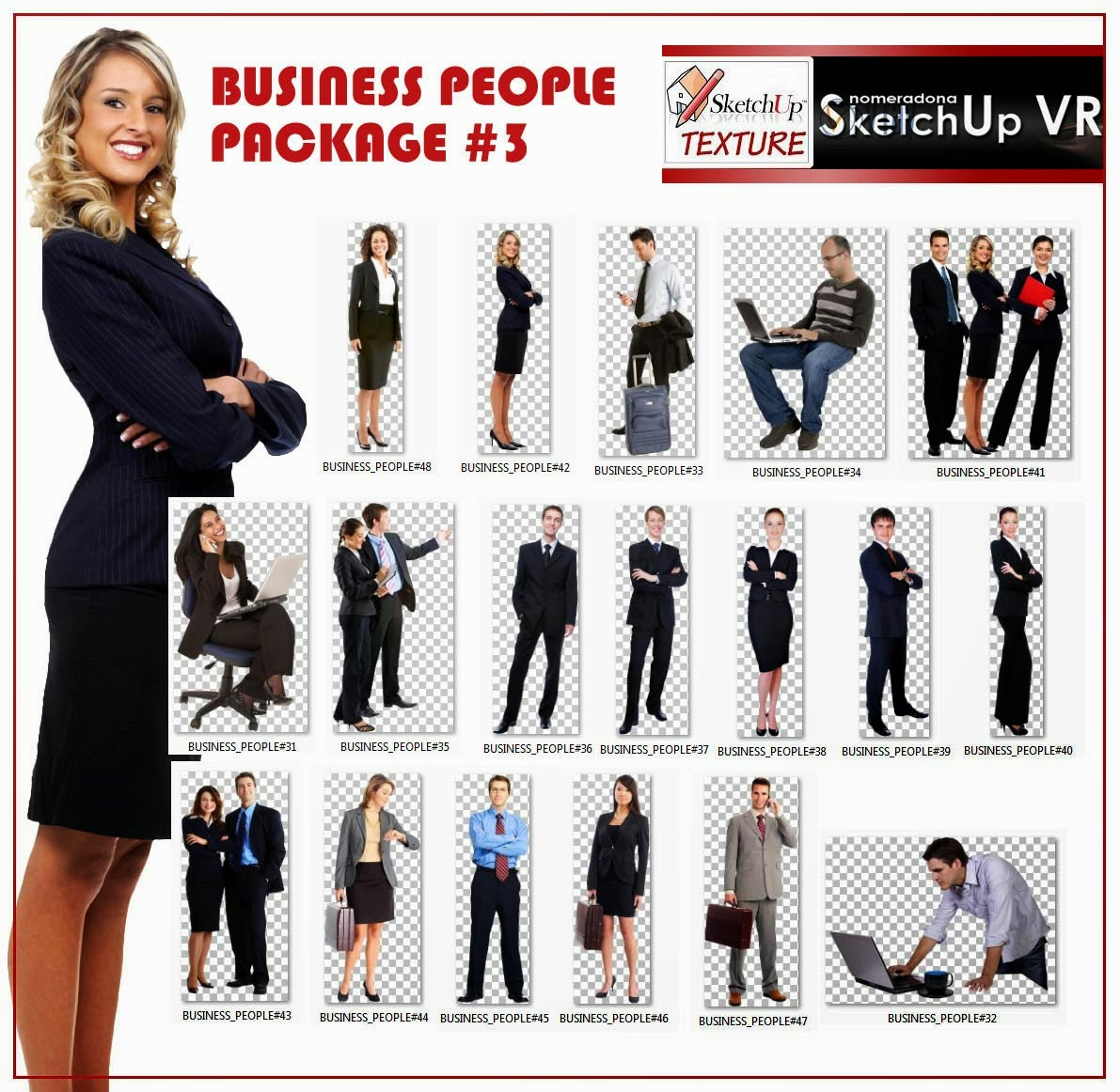 Business People Cut Out