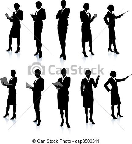 Business Women Silhouette Clip Art