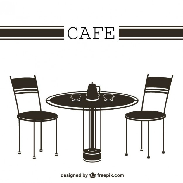 Cafe Tables and Chairs Vector