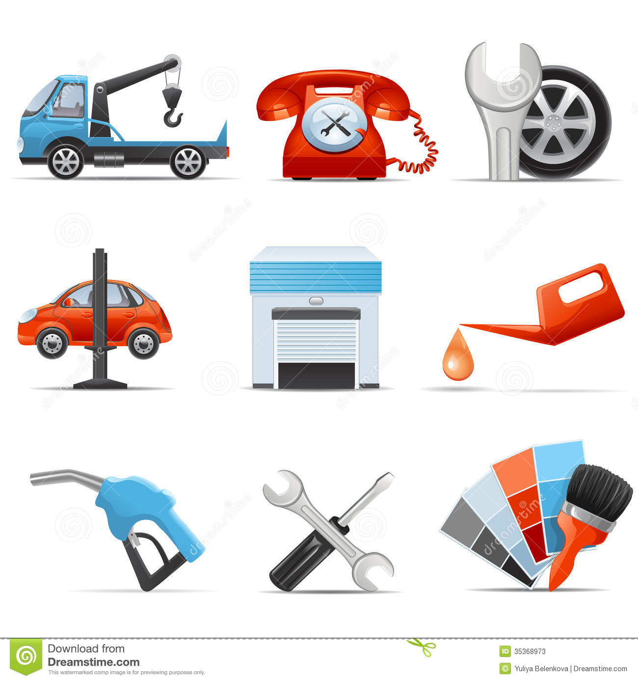 Car Maintenance Repair and Service Icon