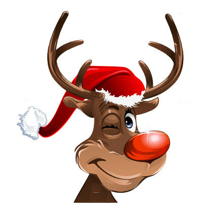 Cartoon Christmas Reindeer Animated