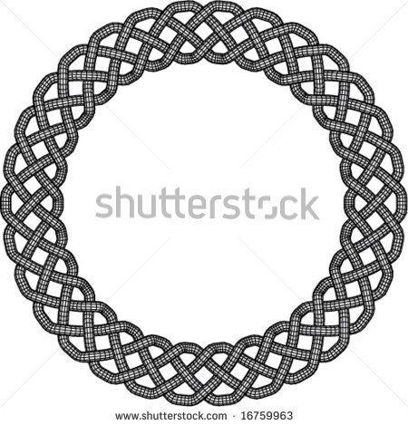 10 Celtic Border Designs Vector Images