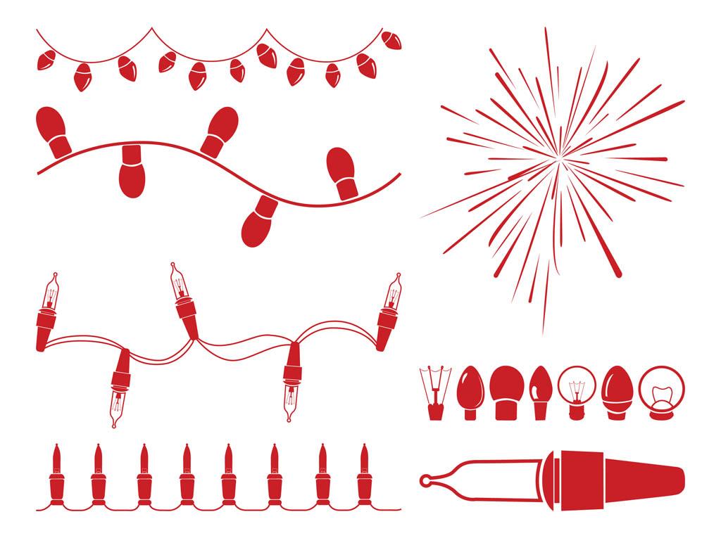 Christmas Light String Clip Art Free