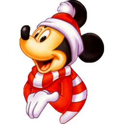 Christmas Mickey Mouse Icon