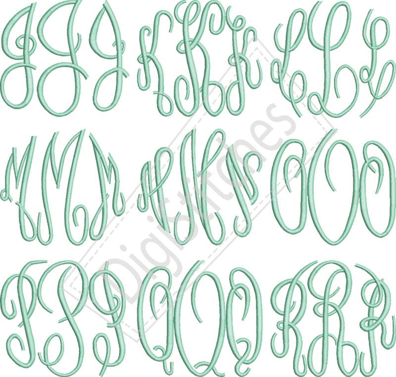 9 Free Circle Monogram Fonts Images