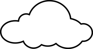 16 White Cloud Vector Graphic Images